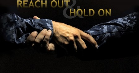 A photo illustration produced by the U.S. Navy supporting the Suicide Prevention program urging sailors to speak up and seek guidance. sailors throughout the fleet are encouraged to work together as commands,    units,    installations or other groups to recognize suicidal tendencies and behavior and act to prevent it. (U.S. Navy photo illustration by Mass Communication Specialist 3rd Class Diana Quinlan/Released)