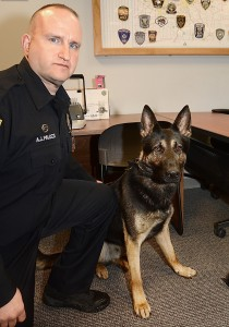 Alliance's new K-9 officer Anthony Palozzi and Alliance's new police dog,    Onyx. Photos courtesy of The Alliance Review.