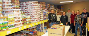 Volunteers who give out food from the pantry to veterans and service members are: Jack Schneider, John Bommarito, Jerry Vavro, Carl Darling, Mike Collins, John Talarico and Rick Link. Photo submitted by Brian Bobek
