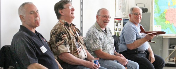 The presentations covered somber issues such as coping with death while alone, to less serious issues such as their sometimes-embarrassing nicknames. (L-r) Joe Peck, Fred Elliot, Ron Trovato and Kenny Allocco. Provided photo