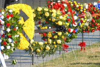 Wreaths at The Wall