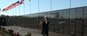 Bagpiper at Memorial