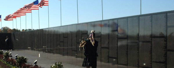 Bagpiper at Memorial