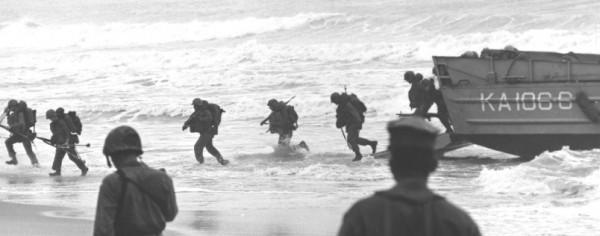 Marines landing at Da Nang beach in 1965 (U.S. Marine Corps)