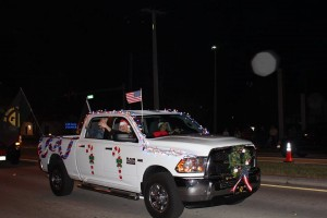AVVA Representative Diana Schaack's snow-white pickup truck all decked out for Christmas