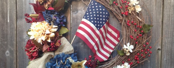 Flag wreath