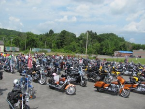 Chapters 377, 480, and 704 collaborate for the 9th Annual Vietnam Veterans Memorial Highway of Valor Tribute Ride in Owego, NY.