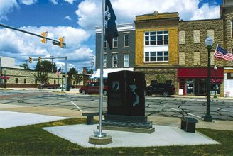 Columbia City Vietnam Veterans Memorial in Indiana