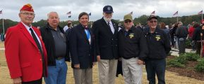 Photo: At the November 2 Dedication of the Tupelo, Mississippi, Veterans Memorial Wall replica: Left to Right: VVA Mississippi State Council President Rex Moody: VVA Georgia State Council President Spence Davis; VVA Alabama State Council President Wayne Reynolds, VVA National President John Rowan, VVA Louisiana State Council President Terry Courville and JD Soileau.