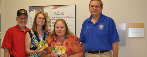 Chapter 227 donates gift cards to VASH