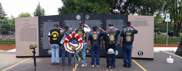 Chapter 805 and Wreaths Across America honor veterans in Roseburg, Oregon.